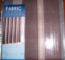 """STRIPED FABRIC SHOWER CURTAIN  by MAYTEX SIZE 72""""X 72"""" NEW IN BAG"""