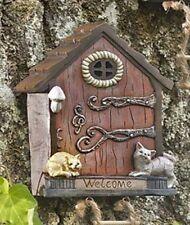 Light Indoor Outdoor mini garden gnome fairy door kitty cats flowers porch