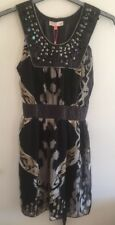 ladies chiffon Beaded dress size 14 made by Miso