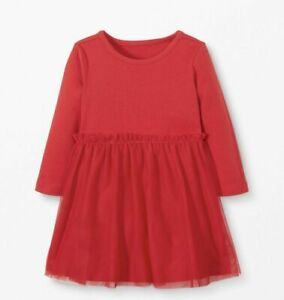 HANNA ANDERSSON Red Tulle Dress * Pretty for holiday! * 60 cm 3-6 mos Retail $39