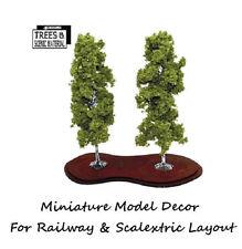 2x Mature Birch Model Tree Train Railway Slot Cars Scenery Miniature Deco Layout