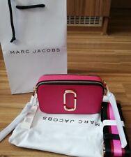 BNWT Marc Jacobs Logo Strap Snapshot Small Camera Fuchsia Pink Cross Body Bag