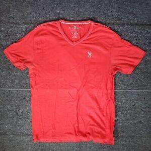 Marc Ecko Cut & Sew Men's Size XL T-Shirt Short Sleeve Red V-Neck