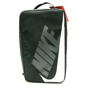 NIKE SHOE BOX ZIP BAG BLACK WHITE SHOEBOX BAG CW9266-010 NEW