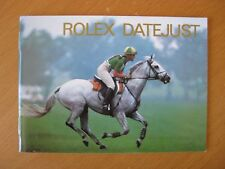 ROLEX 90'S DATEJUST INSTRUCTION BOOKLET