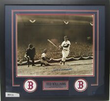 TED WILLIAMS Boston Red Sox Autographed Framed 16x20 Photo JSA CoA