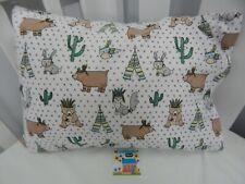 Pillowcase Flannelette Cot Toddler Size Woodland Prairie 100% Cotton Snug & Warm