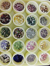 Nail art kit 20 jars of rhinestones. Different shapes and sizes. Gift Diwali