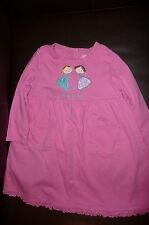 2T J Khaki pink dress Best Friends Applique pockets VGUC