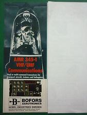 5/1987 PUB BOFORS AEROTRONICS AMR 345-1 VHF UHF TRANSCEIVER PILOT HELMET AD