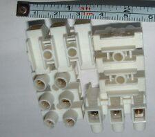 60 de 3 vías, 25a Calor nylon resistente al terminal de conectores Tiras (180 Terminales De Tornillo)