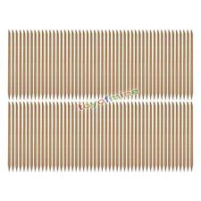 100pcs Orangewood Sticks Nail Art Orange Wood Manicure Cuticle Remover Pusher