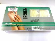 The Edge 360 assorted ACTIVE Nail Tip 1/2 Small Well (GENUINE EDGE ITEM)