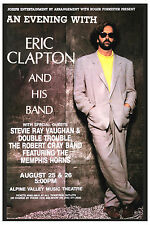 Eric Clapton at Alpine Valley Music Theatre Concert Poster 1990
