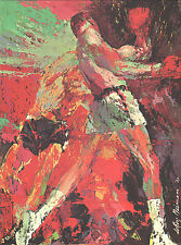 """LEROY NEIMAN BOOK PLATE """"THE KNOCKOUT"""" BOXING FIGHTS 1967"""