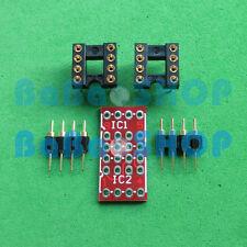 10 sets DIP to DIP Dual to Mono Opamp PCB Adapter KIT PCB+PIN+DIP SOCKET New