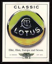 CLASSIC LOTUS - Original Collectors Card Set - 7 Seven Elan Plus 2 Elite Europa