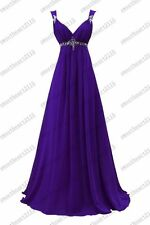 Formal Chiffon Evening Ball Gown Party Prom Bridesmaid Dress Custom size 6-28
