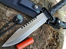 5 in 1 Outdoor Set Survival Gürtelmesser Jagd Messer Säge Kompass usw. Buchner