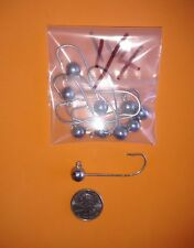10 1//2 OZ Round Heavy Strong Hook Unpainted Jig Heads Fresh or Salt Water Use