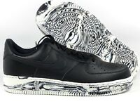 6af1e4c31a0146 Nike Air Force 1  07 LV8 LTHR Leather Black White Marble AJ9507-001 Men s