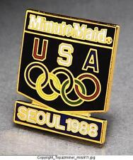 OLYMPIC PINS 1988 SEOUL KOREA MINUTE MAID COKE SPONSOR TEAM USA NOC