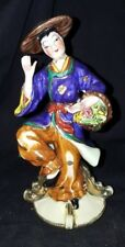 Vintage Shafford China Hand Painted Dancing Asian Figure Figurine USED Chip Bttm
