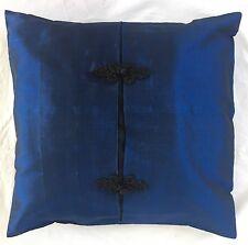 Pair of 'ELEGANT - Blue' Cushion Covers, 100% Thai Silk