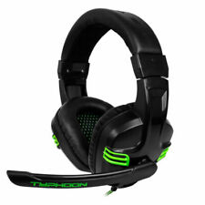 BG Typhoon Auriculares para Gaming - Negro/Verde (BG-AUD08)