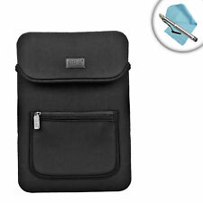 "Neoprene 12"" Tablet Case with Front Pocket , Handle & Scratch-Resistant Interior"