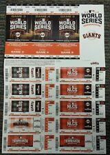 2016 SAN FRANCISCO GIANTS FULL UNCUT PLAYOFF SHEETS Mets -WILD CARD -CUBS NLDS