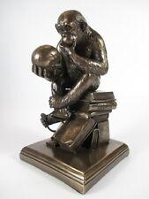 Affe Monkey mit Totenkopf Darvin18 cm bronzierte Figur,Masterpiece Kollektion