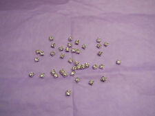 50pcs Silver sew on Rhinestones Bridal Wedding Sewing beads Any purpose diy 4mm