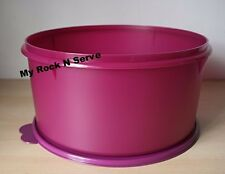 Tupperware Jumbo Round Storage Container Canister 10 Qt Plum NEW!!!!