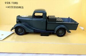 1/43   SOLIDO MILITAIRE VINTAGE  / FORD V8 PICK UP + ACCESSOIRES