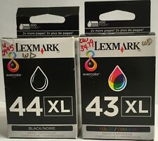 Lexmark 43XL  (1ea.) and Lexmark 44XL (1ea.) Ink Jet Cartridges