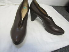 COSTUME NATIONAL BROWN LEATHER PUMPS SZ 7.5