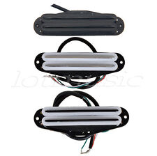 3 Sets Guitar Dual Hot Rail Humbucker Pickup Bridge AndNeck Double Coil Black
