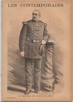 Louis-Gaston de Sonis General France JOURNAL COMPLET 16 PAGES 1893