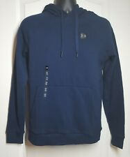Under Armour Men's Rival Fleece Pullover Hoodie in Academy/Black Size S NWOT