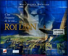 LE ROI LION Affiche Cinéma GEANTE 4x3 WIDE Movie Poster DISNEY