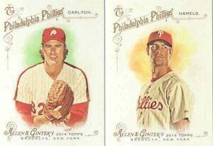 Philadelphia Phillies 2014 Topps Allen Ginter Team Set Mike Schmidt Carlton Plus