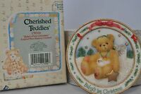 Cherished Teddies - Baby's First Christmas - 176346 - Sculpted Plate Hanging