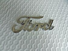 "New Chrome Ford™  SCRIPT LOGO EMBLEM BADGE 4+3/8"" Free Shipping"