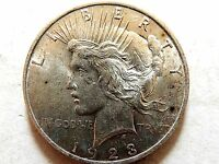 1923 United States Silver Peace Dollar Lot F