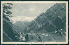 Aosta Gressoney Saint Jean Monte Rosa PIEGHINA cartolina VK0722