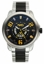 NXS Swiss Freestyle GMT Mens Watch, Black/Yellow