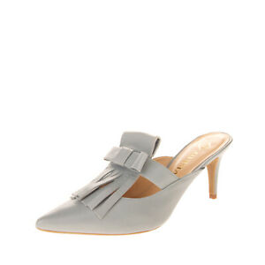 GUIMA Leather Mule Sandals Size 38 UK 5 US 8 Bow Fringe Trim Made in Italy