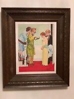 1983 Vintage OIL On Canvas Painting Signed John Basmagy  Wood Framed 17x20/14x11