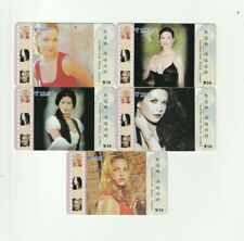 (5) Rare Phone Cards Catherine Zeta-Jones